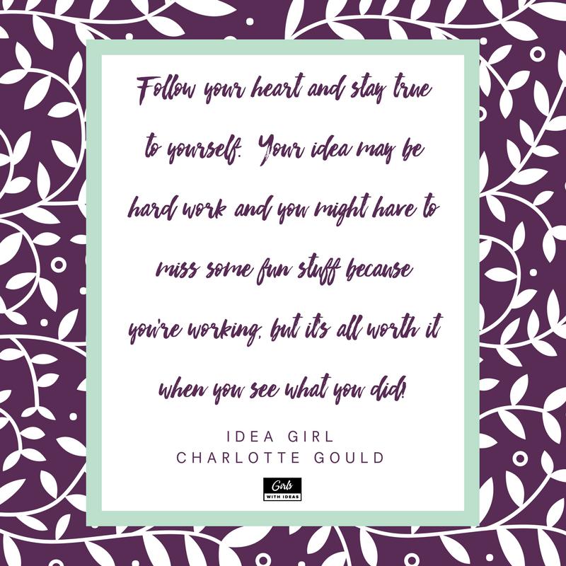 Meet an Idea Girl: Charlotte Gould from  www.girl  swithideas.com