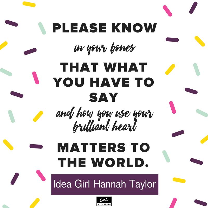 Meet an Idea Girl: Hannah Taylor from   www  .  gir    lswithideas  .  com