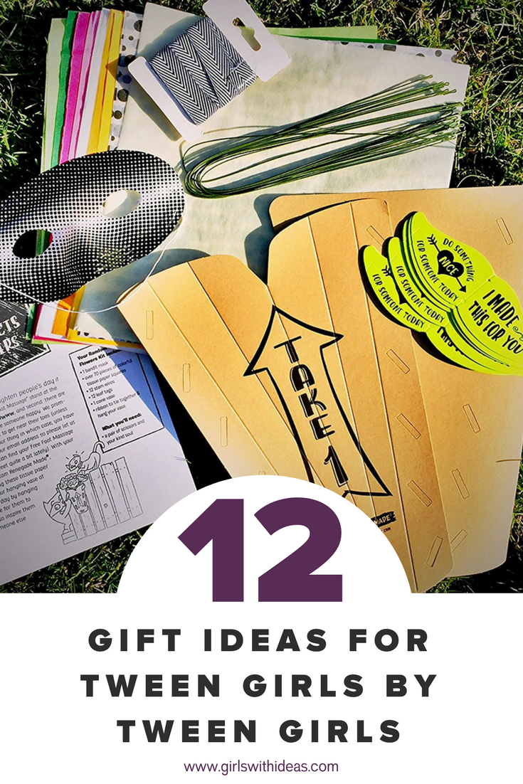 Gift Guide: 12 Gift Ideas for Tween Girls by Tween Girls from   www  .  gir    lswithideas  .  com