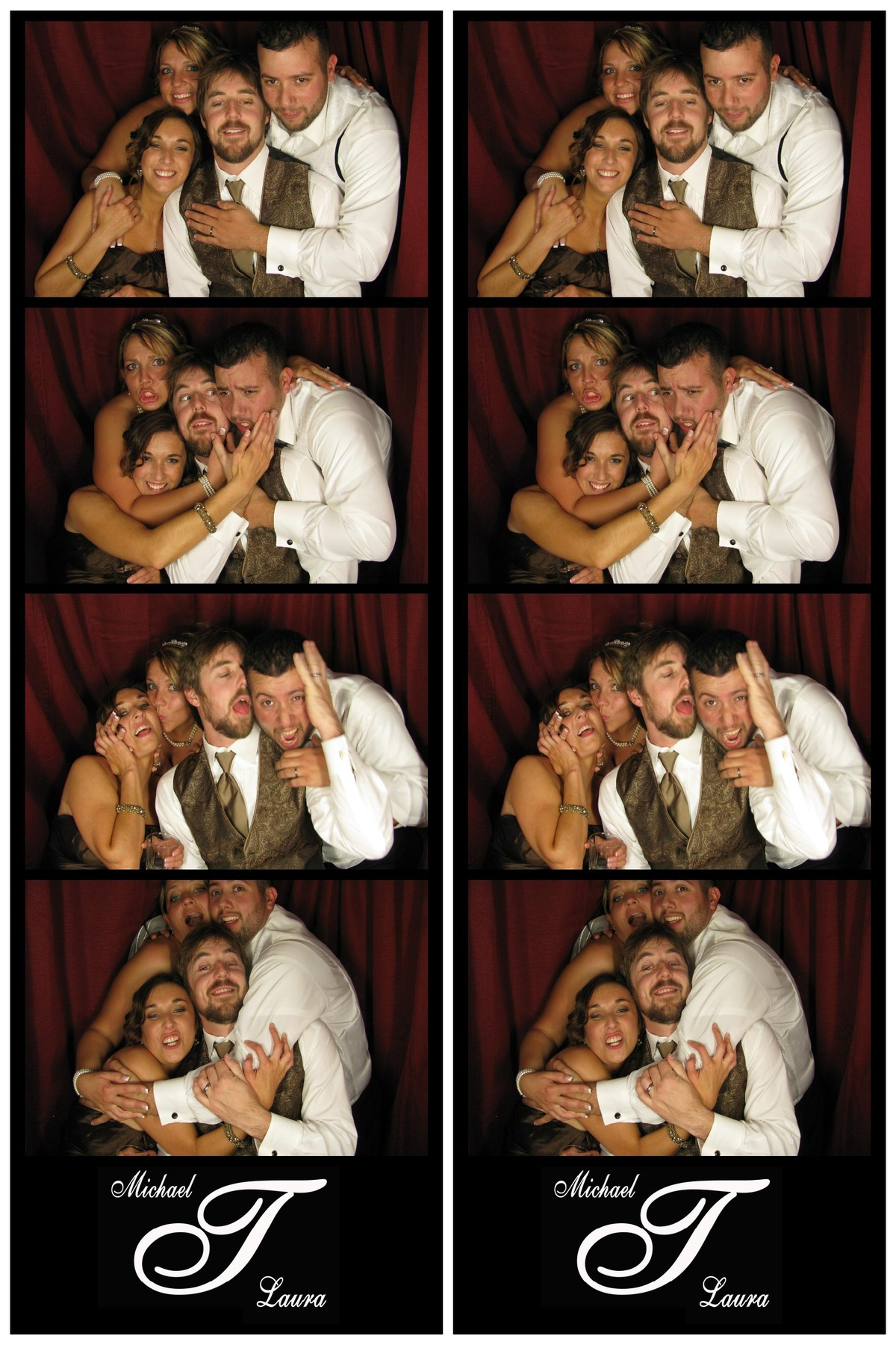 Michael & Laura's wedding fun - Snapshot Photobooths NJ Photo Booth Rentals