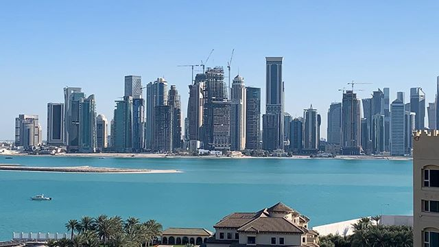 Exploring Qatar for the very first time! Super nice people and not too hot yet!