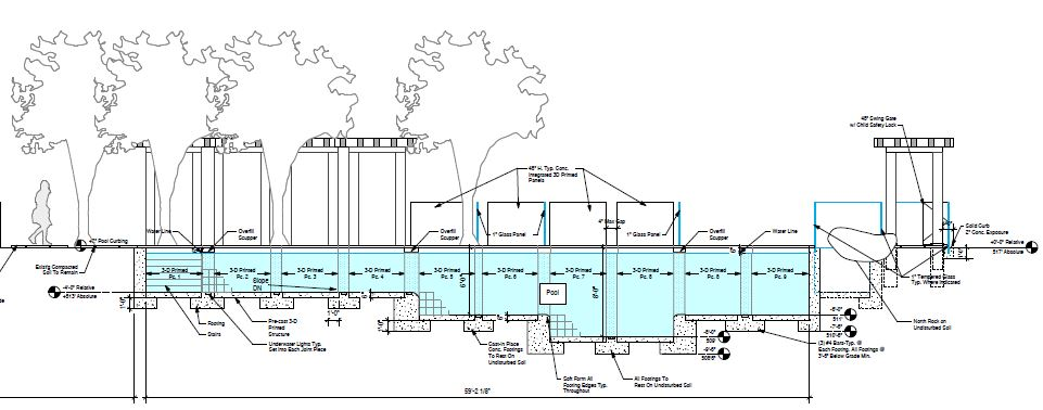 Section/Detail Plan of Pool