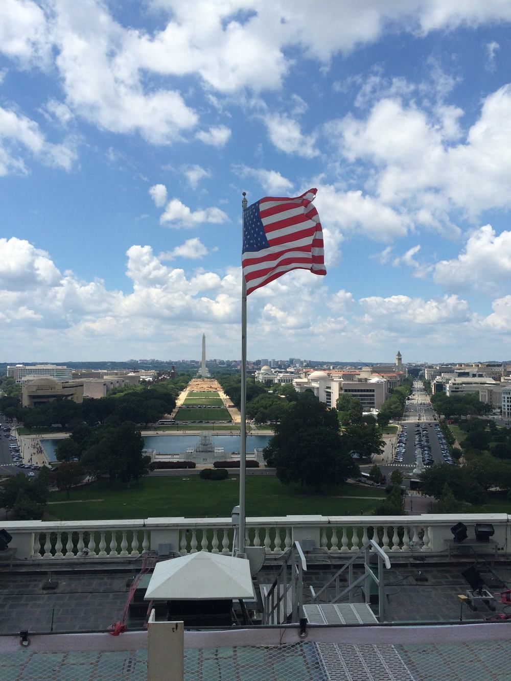 View from the roof of the US Capitol Building