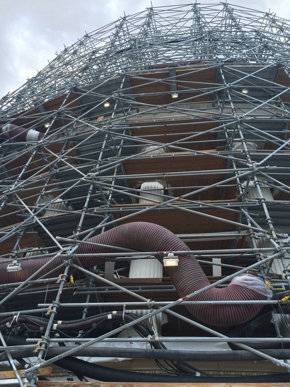 Scaffold during US Capitol Building restoration