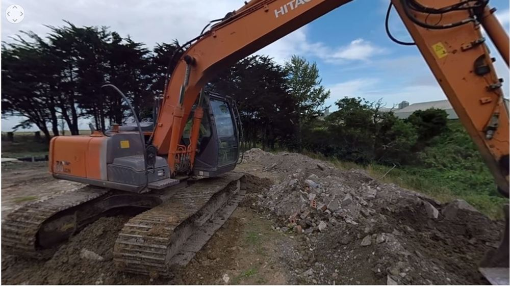 360 excavator video