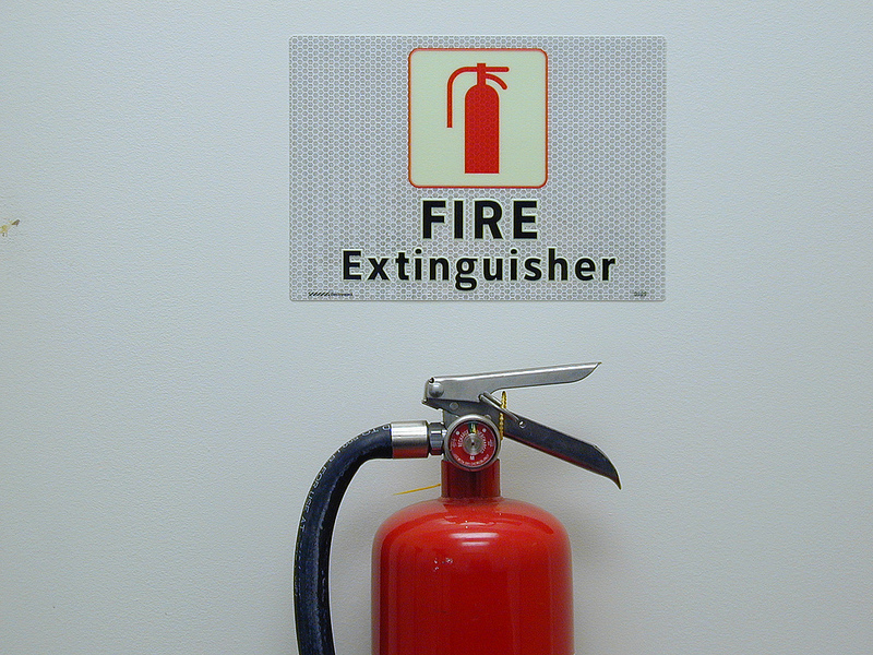 """fire extinguisher"" by  SmartSign ,  CC BY 2.0"