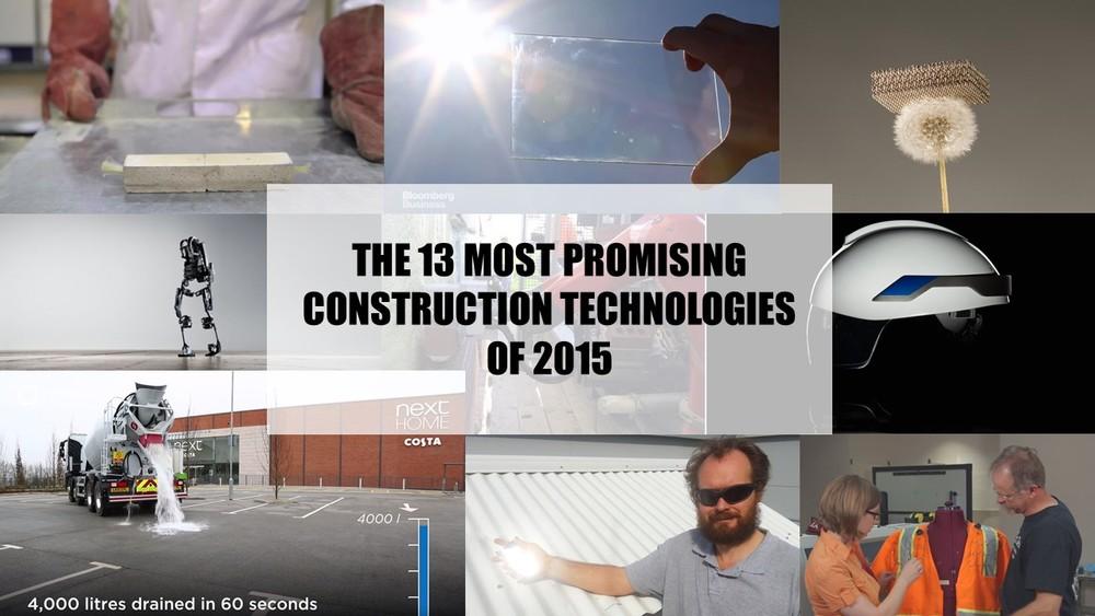 best construction technologies 2015