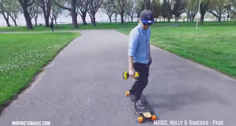 power drill skateboard