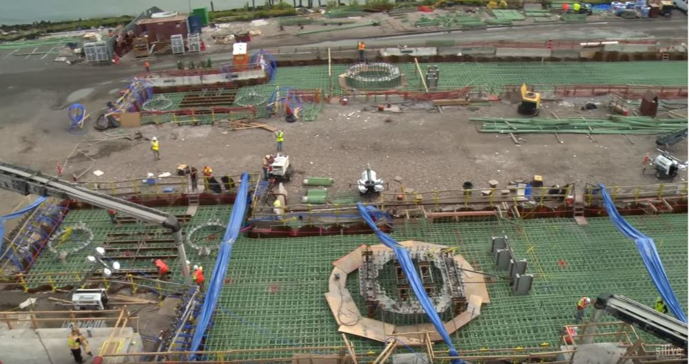 new york wheel concrete pour