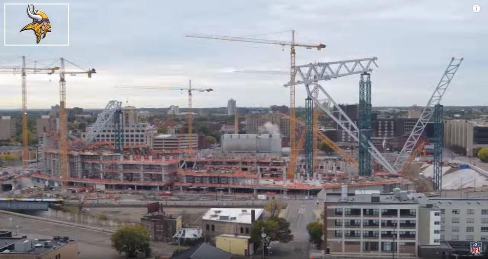 [VIDEO] Watch New Minnesota Vikings Stadium Construction ...