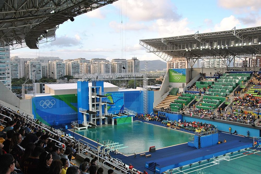 Rio's Olympic Aquatic Stadium.  Photo by Leandro Neumann Ciuffo, CC BY 2.0