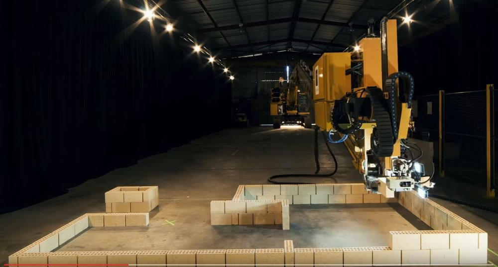 Hadrian X brick laying robot via Youtube