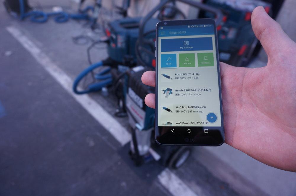 Bosch GPS Tracking Smartphone App