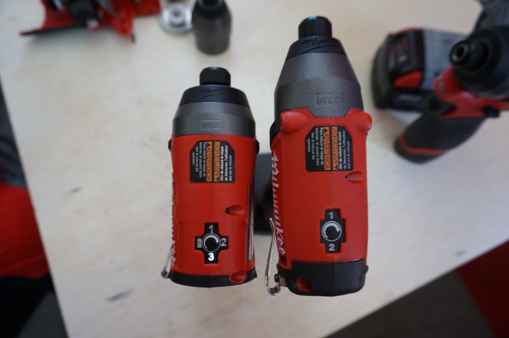 Gen 2 Impact Driver (left) and Gen 1 (right)