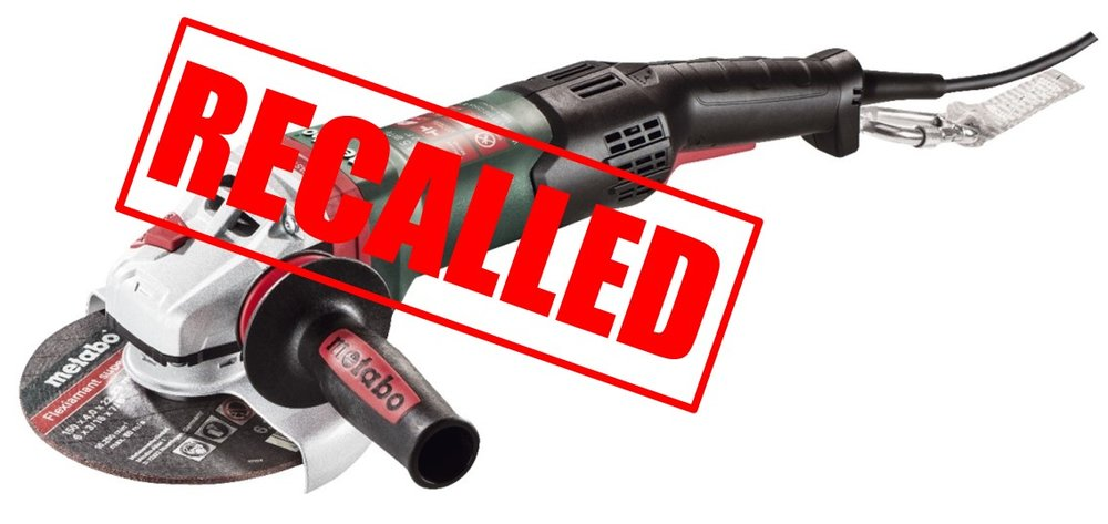 Metabo Rat Tail Angle Grinder Recalled (more details below)