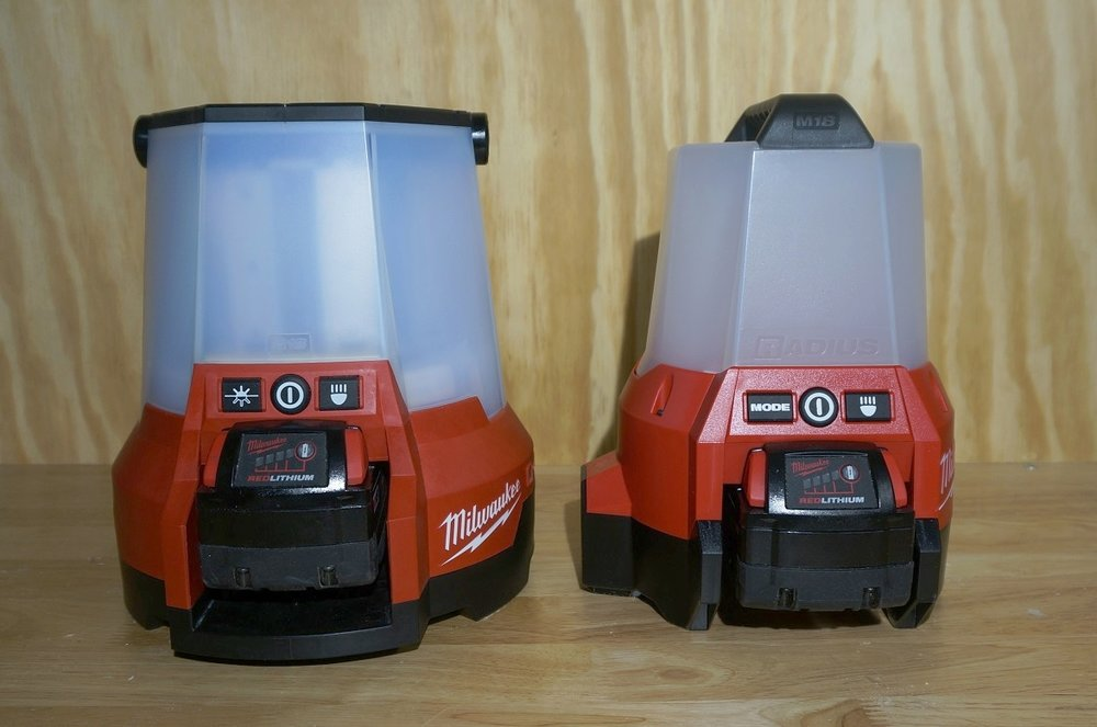 Milwaukee 2145-20 (left) and 2144-20 (right)