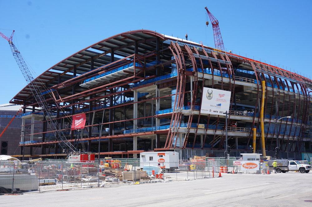 Milwaukee Bucks Arena Under Construction in June 2016
