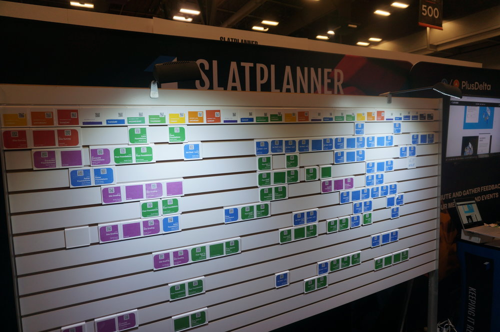 SlatPlanner display at Procore Groundbreak 2018