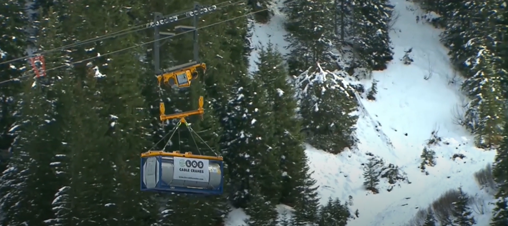 [VIDEO] Need to Get Some Heavy Equipment Up a Mountain? Try a Cable Car System
