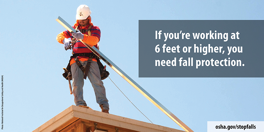 National Safety Stand-Down to Prevent Falls in Construction Starts May 3