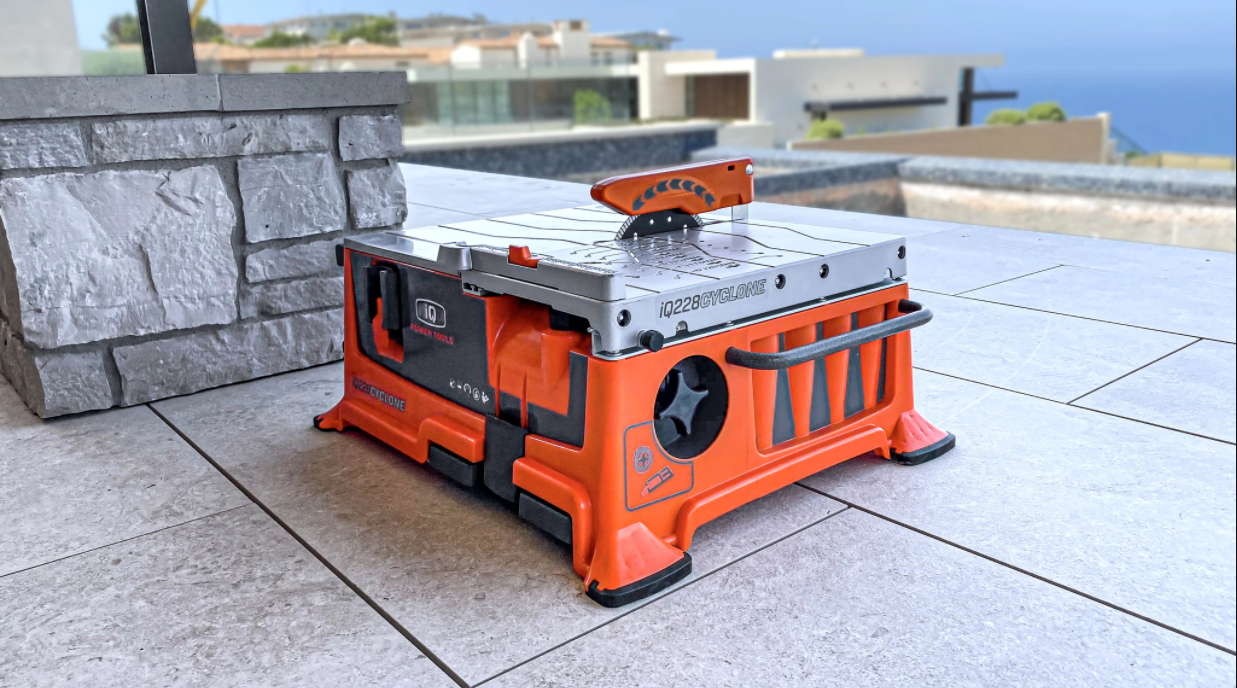 """Cool Tools: World's First Dry Cut 7-1/2"""" Portable Tile Saw"""