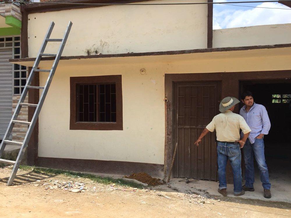 El Carmen Community Hub before the work began in 2017