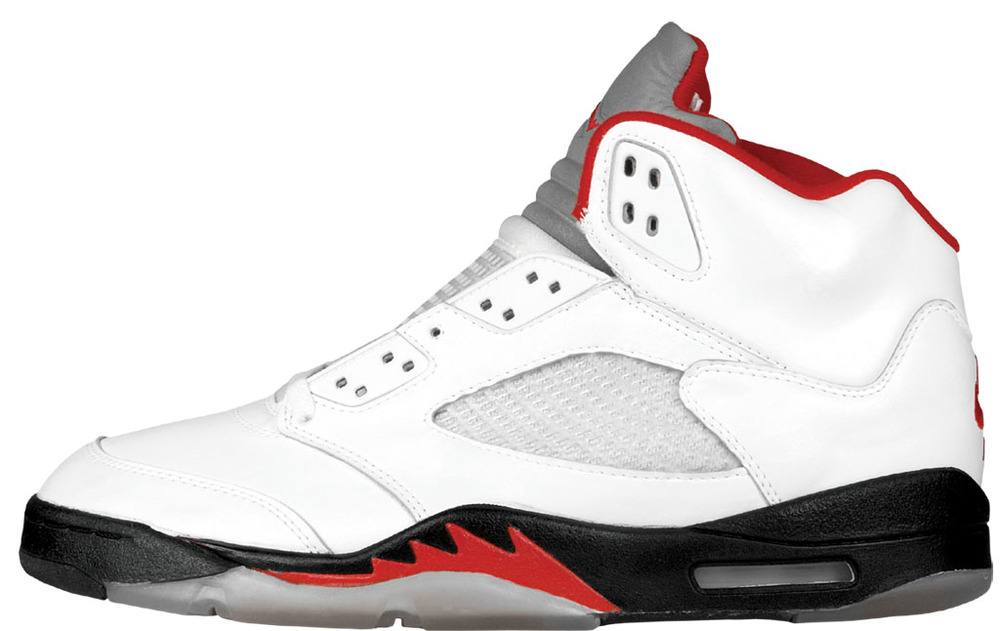 air jordan 5 white\/fire red-sunset-dark cinder blocks
