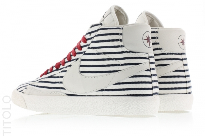 """Tne Nike Blazer Mid PRM VNTG QS """"French Open"""" is now available at select  overseas retailers like Titolo for $140 USD."""