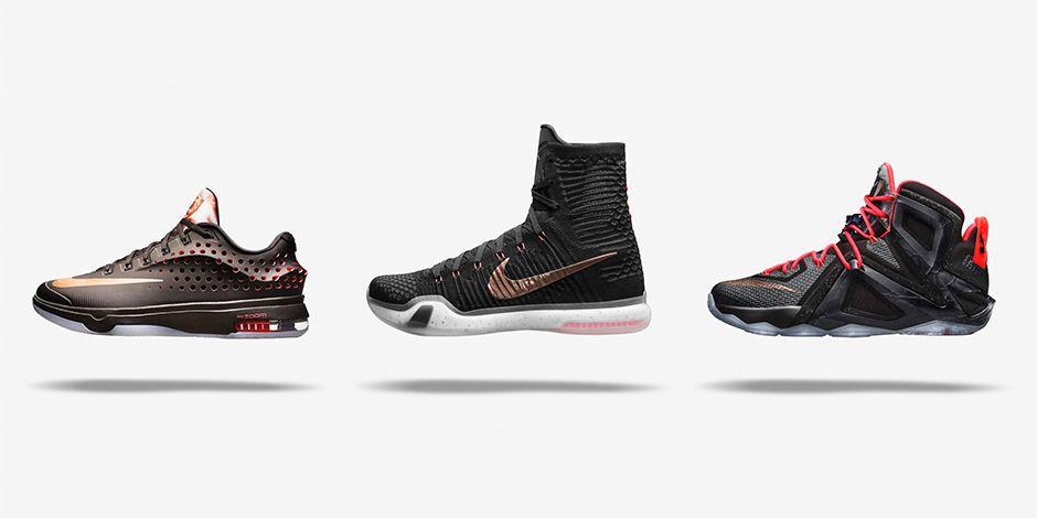 5d96b8ec9dc6 Nike Elite Rose Gold LeBron 12 Rose Gold Nike US · Nike EU · Foot Locker Kobe  X Rose Gold