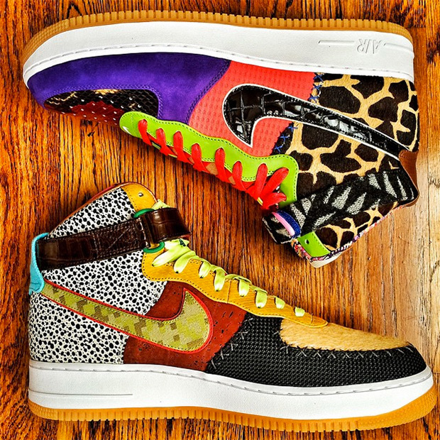 cheap for discount e1931 de4ed ... Force 1 Hi features a upper comprised of a colorful range of prints and  patterns and a full-length Nike Air unit for the clean finish and premium  ...