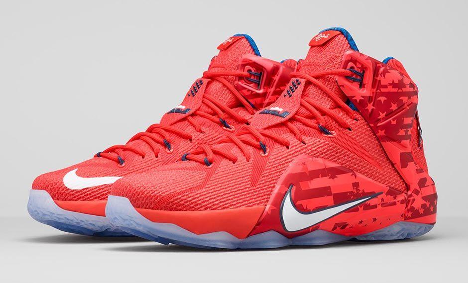 """23bfc70651a2 Nike LeBron 12 """"4th of July"""""""