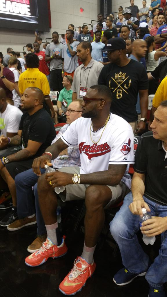 """c2ffc316f19f LeBron James Attends Summer League in the Nike LeBron 12 Low """"Trainwreck"""" —  The Sole Truth"""
