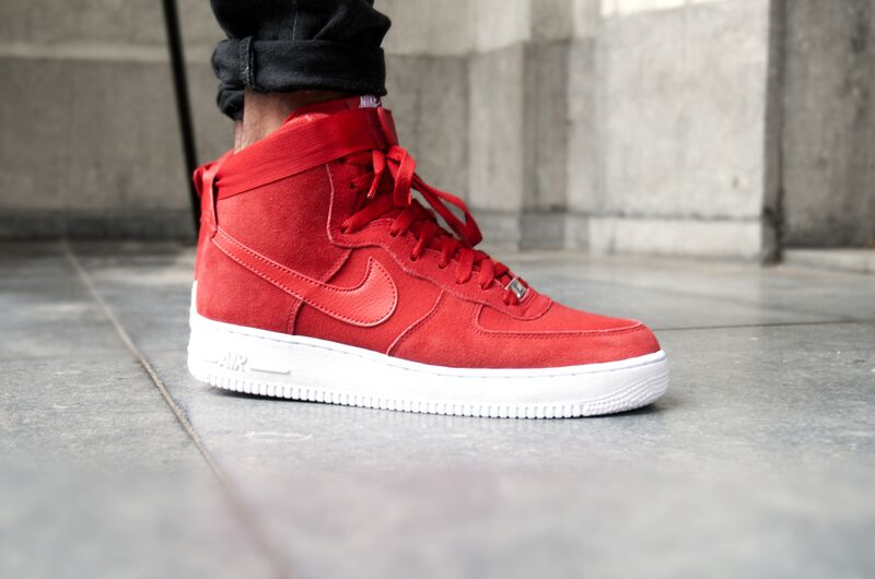 "Nike Air Force 1 High  07 ""Red Suede""  e31449f257cd"