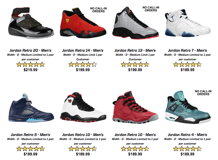 brand new 1c337 a3513 ... where to buy the air jordans that appear below will be available  starting at 10 a.m.