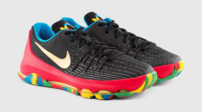 best cheap 2f936 5a960 NIKE KD 8 GRADE SCHOOL (BLACK   UNIVERSITY RED   TOUR YELLOW