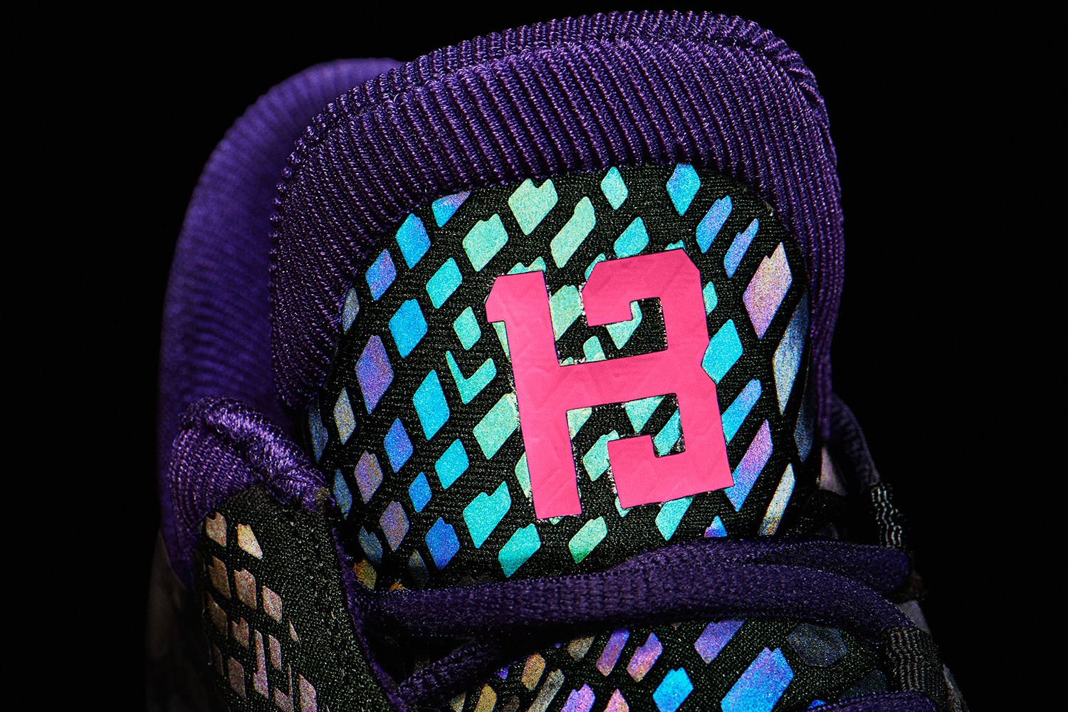 "3299d297b9ca James Harden s All-Star adidas Crazylight Boost 2.5 ""Aurora Borealis ..."