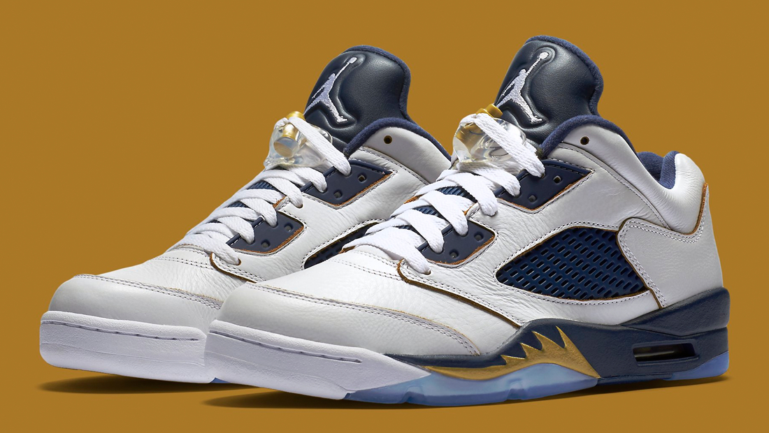 super popular cf03b d13f6 blue and gold jordan 5