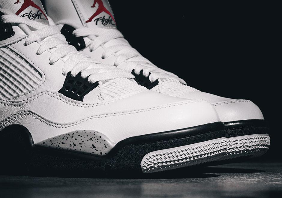 """4fe400f8ee4157 Air Jordan 4 Retro OG """"White Cement"""" RESTOCKS — The Sole Truth"""