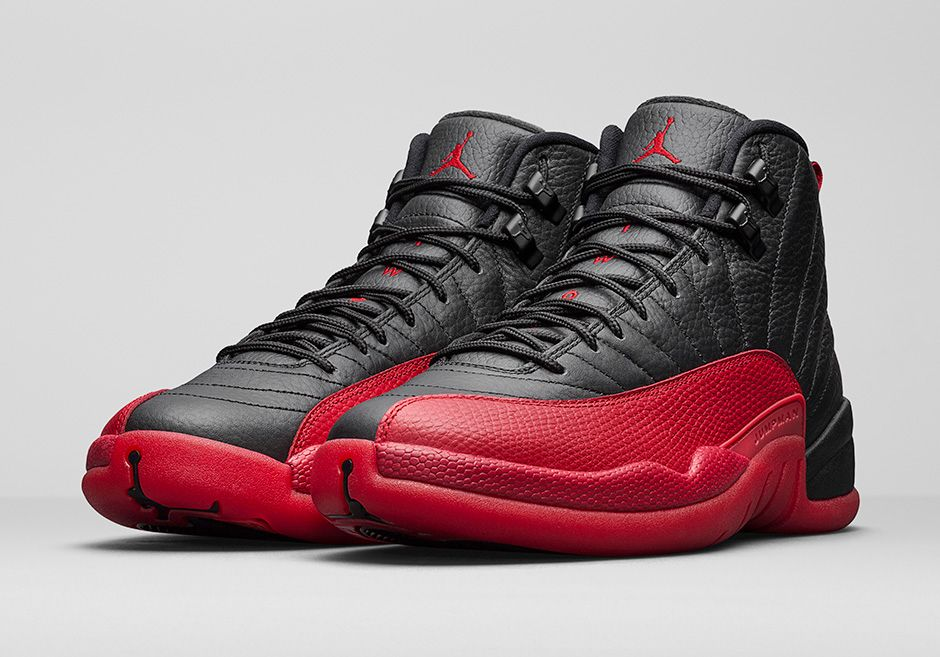 AIR JORDAN 12 RETRO 'BLACK/VARSITY RED'