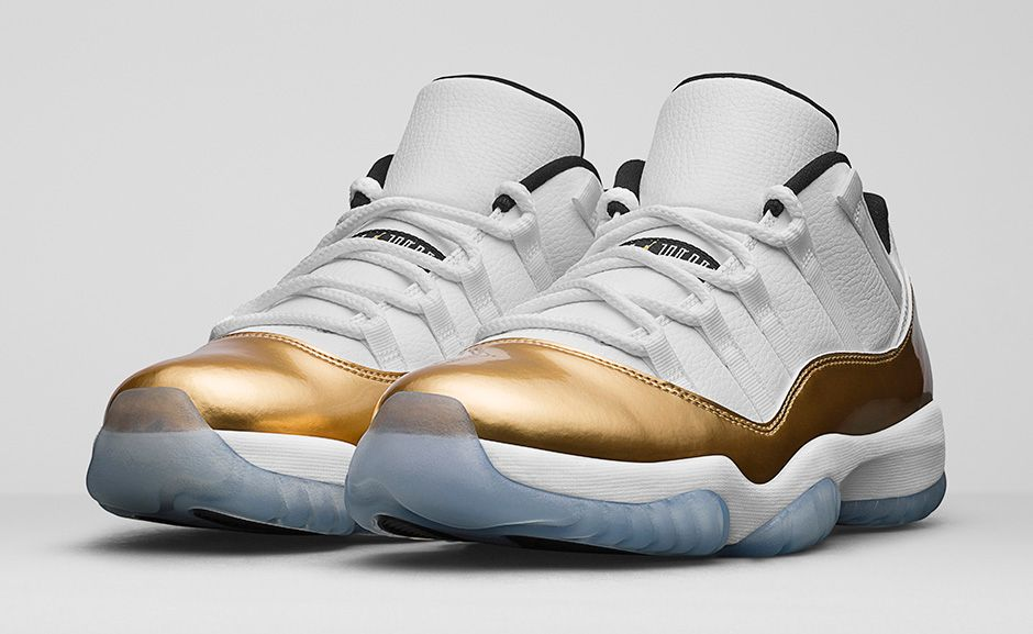 competitive price ed7b1 6cce8 ... coupon for air jordan 11 retro low white metallic gold f677a cac6e  reduced nike ...