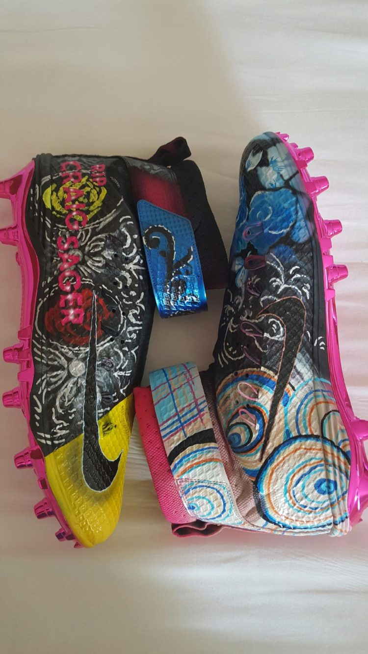 separation shoes 3c939 b4e2c  GridIronSole  Ricky Jean Francois Honors Craig Sager with Custom Monday  Night Football Cleats