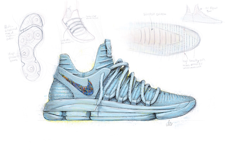 pretty nice f38d6 6d085 Nike KD 10 Sneaker Sketch By Leo Chang — The Sole Truth