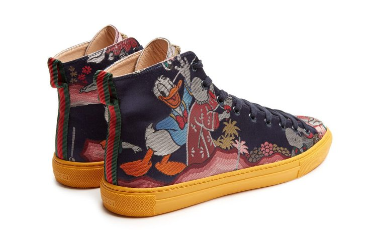 4a9850f01e67 GUCCI Donald Duck©-jacquard high-top trainers — The Sole Truth