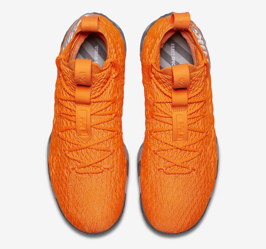 brand new 98812 47e7c Nike-LeBron-15-Orange-Box-AR5125-800-Top-