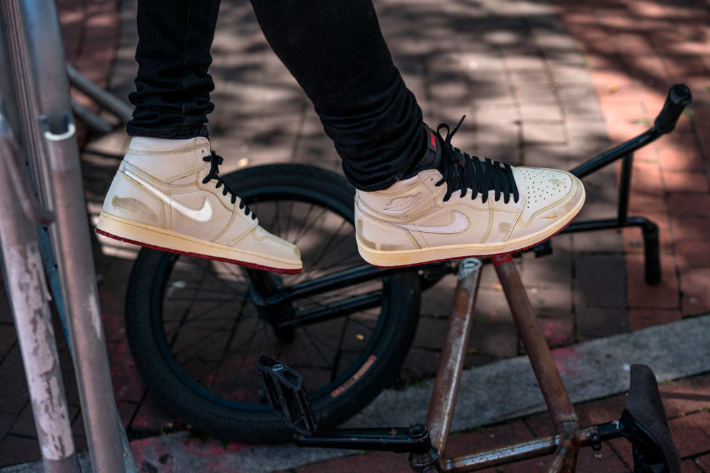 "You did the Nike SB x Nigel Sylvester Dunk High ""S.O.M.P."" in 2014. Where  did the process for this Jordan 1 start  3481cee22"