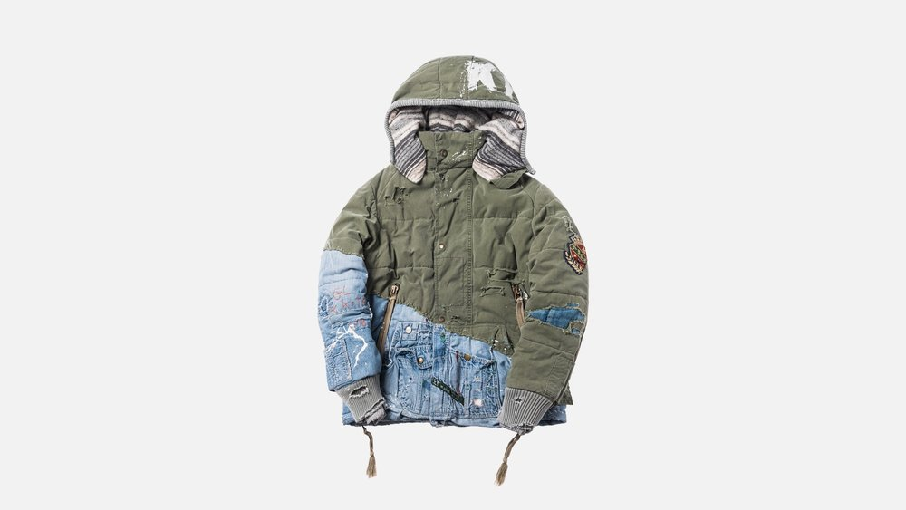 kith patchwork hoodie