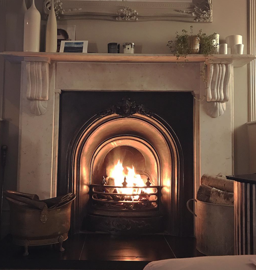 Open fireplace makes for very cosy evenings…or those festive photoshoots during the summer!