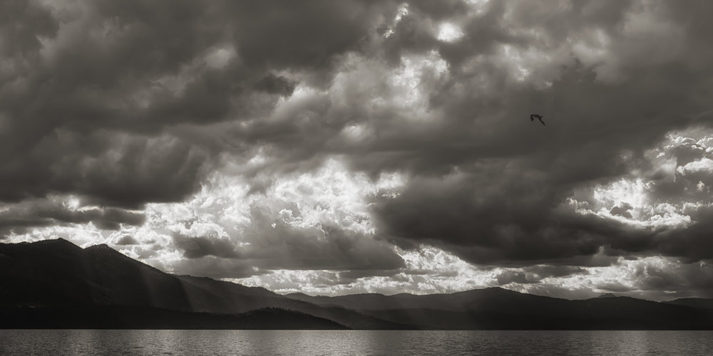 Some seriously dramatic light in the afternoon at Lake Tahoe.