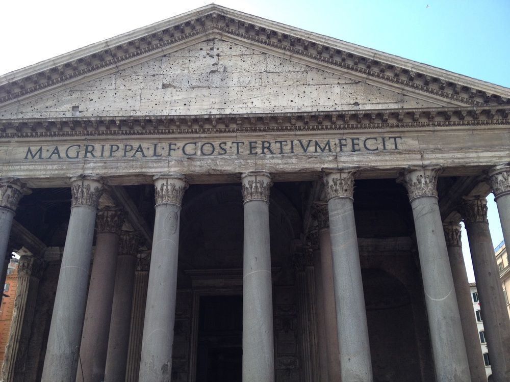 "Pantheon is derived from the Ancient Greek ""Pantheon"" (Πάνθεον) meaning ""of, relating to, or common to all the gods"" —Wikipedia ( https://en.m.wikipedia.org/wiki/Pantheon,_Rome )"