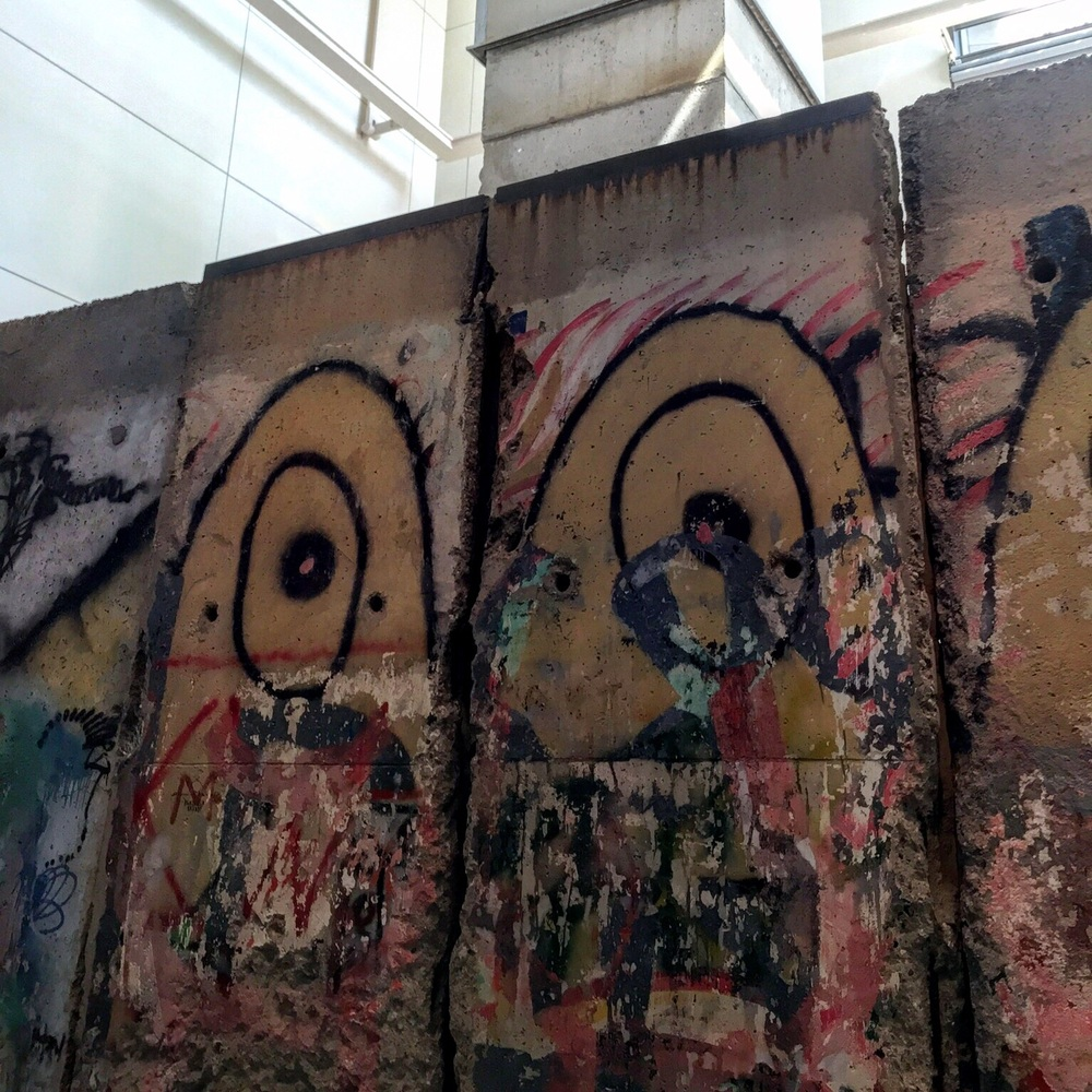 A section of the Berlin wall, on display at the Washington Post Museum on the National Mall in Washington, D.C. A reminder of the dangers of misinformation and the liberation of a country who discovered the truth.
